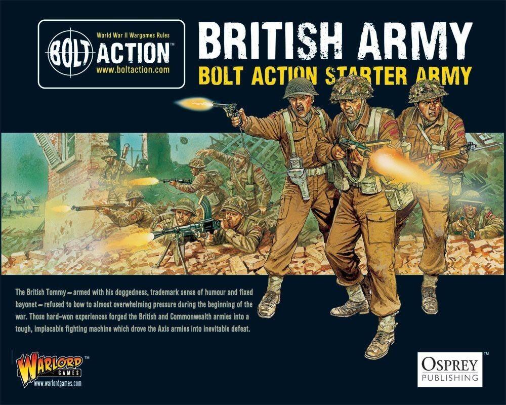 Bolt Action Starter Armée de terre - britannique 28mm Kit démarrage WARLORD