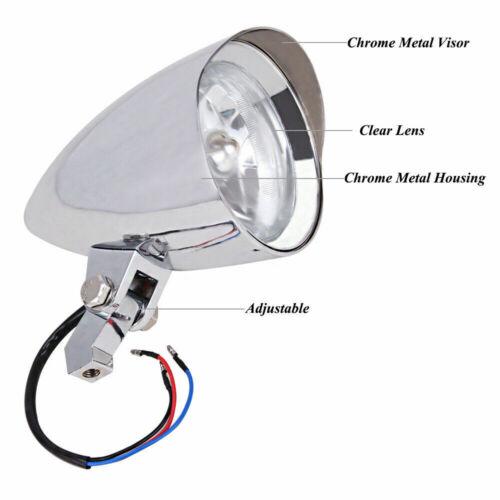 "Universal 4.5/"" Motorcycle Visor Bullet Headlight Lamp For Harley Chopper Dyan"
