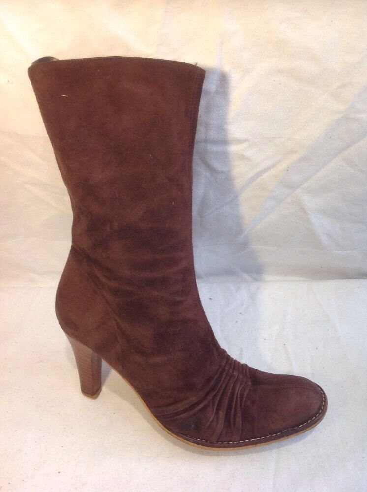 KG By Kurt Geiger Brown Mid Calf Suede Boots Size 37