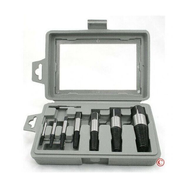 Professional Bolt Extractor Drill Bit Set 6 Piece Kit Easy Out Stud Reverse Set