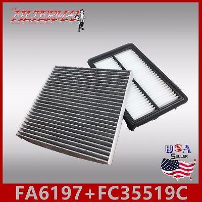 OEM QUALITY ENGINE /& CABIN AIR FILTER CARBON 2006-08 RX400H V6 FA5804 FC35479C