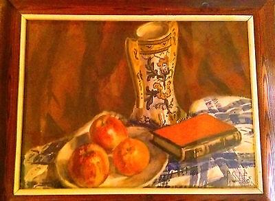40x30 Easy To Lubricate Firmada 1940 Watercolour Bodego Original Of Pau Sabate Jauma