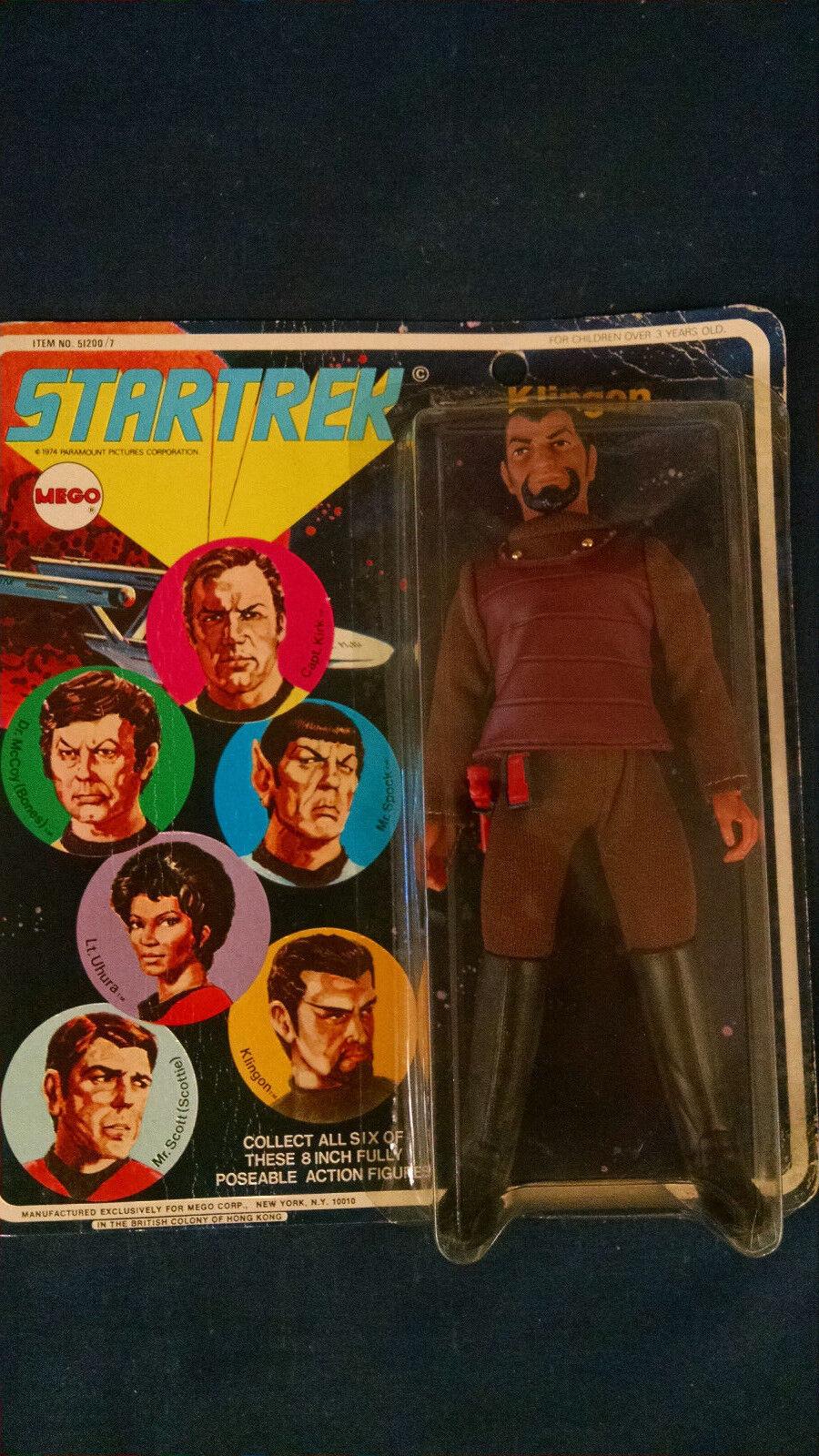 Vintage STAR TREK  Klingon MEGO Action Figure 1974 moc NOS mint on card