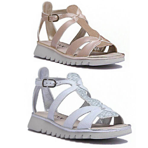 The Flexx Free Wave Women Leather White Strappy Wedge Sandals Size UK 3 - 8