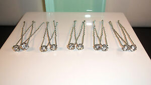 ** Nouveauté ** Bridal Crystal Hairpins-accessoires Cheveux Mariage Bride-prom Silver-afficher Le Titre D'origine