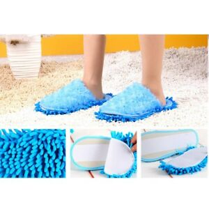 Uni Cleaning Slippers Mop Shoes Rose