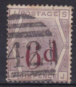 BD349-Great-Britain-1881-6d-Surcharge-SG-162a