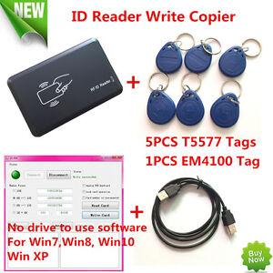 Details about USB 125KHZ RFID EM Card Reader Writer Copier Duplicater Clone  T5577 Programmer