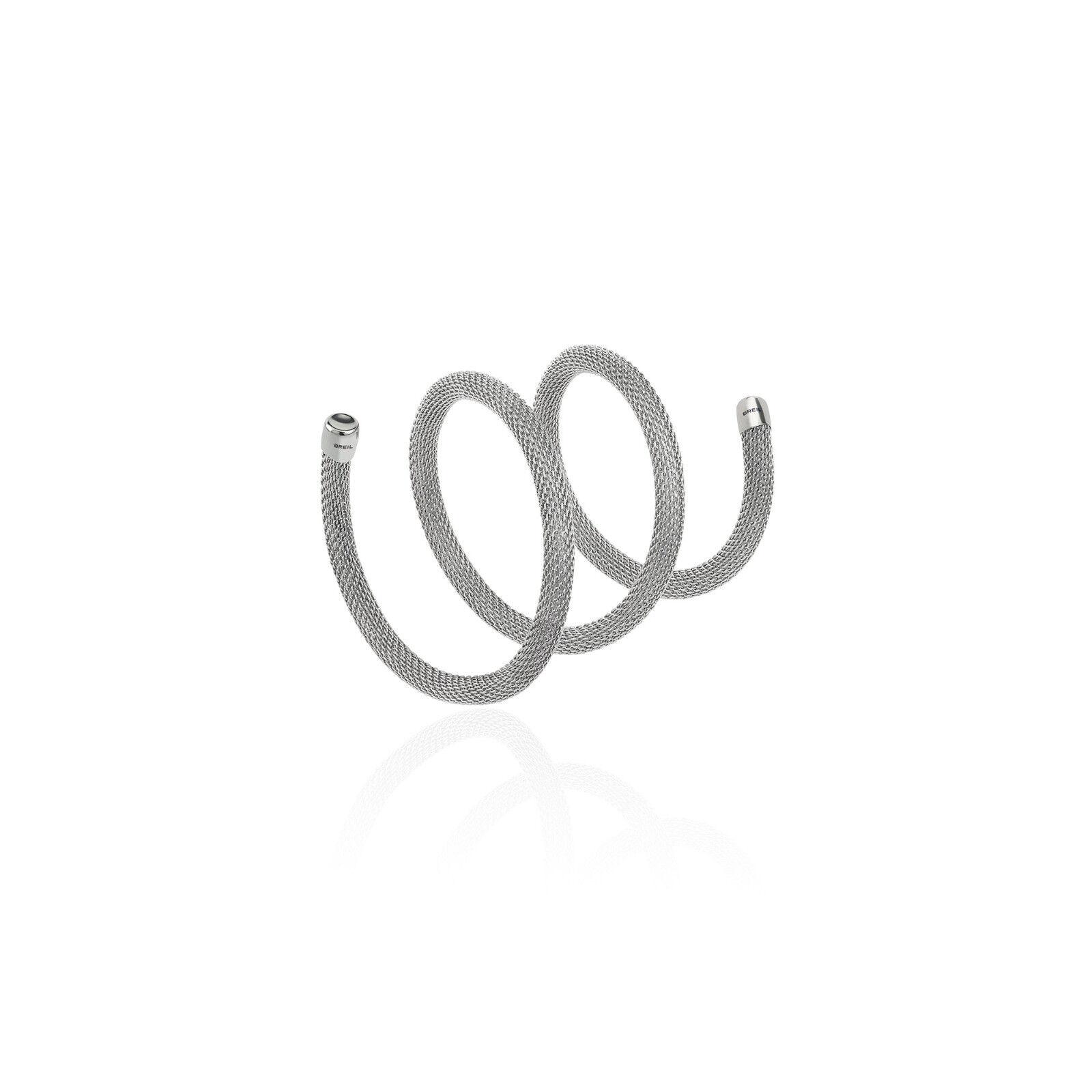 Collana Bracciale Breil New Snake acciaio lucido modellabile cm.50 Ref. TJ2711