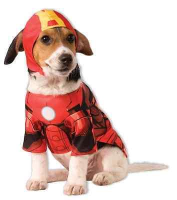 edc928bfd07 Iron Man Marvel Avengers Superhero Fancy Dress Up Halloween Pet Dog Cat  Costume   eBay