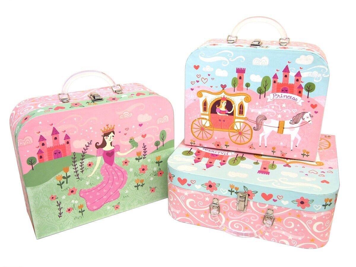 Princess Punch Studio Nesting Boxes  Princess Fairy tale Castle, Pink Suit Case