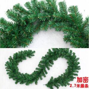 Christmas-Rattan-Green-Garland-Tree-Hanging-Pendants-Home-Party-Decoration-LG