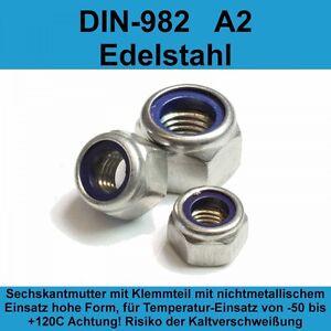 50 Stk DIN 934 Sechskantmutter Edelstahl V2A
