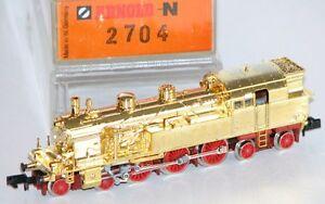 Arnold-N-2704-Standmodell-Dampflok-BR-78-der-DRG-vergoldet-NEU-OVP