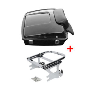Razor-Trunk-Pack-Backrest-Rack-For-97-08-Harley-Tour-Pak-Road-King-Electra-Glide