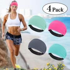 0389655a3d80 4 PACK Sports Headbands Running Sweat Absorption Athletic Headwear for Men  Women