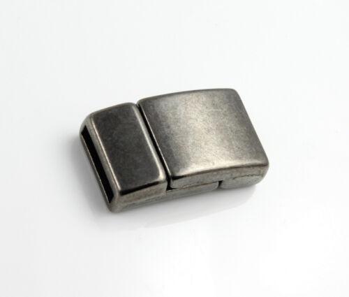 armband herstellen EU-Ware Zamak Magnetverschluss schwarz ID 10 x 2 mm