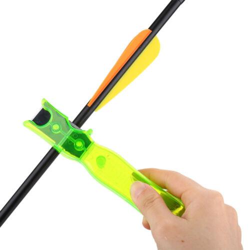 Archery Arrow Stripper Scraper Vanes Feather Fletching Glue Remover Tool Green