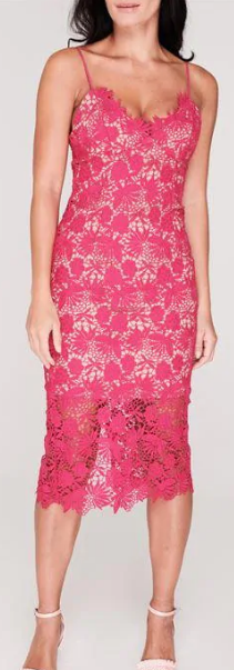 Acheter Pas Cher Bardot Tayla Dentelle Robe Rose Betterave Taille 8 (xs) * Ref118 ModèLes à La Mode