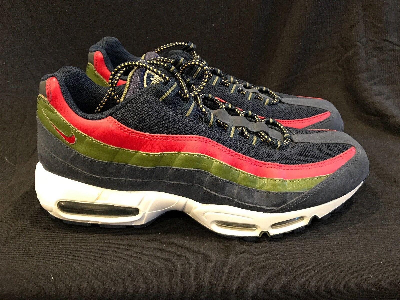 BRAND NEW Nike Air Max 95 Obsidian / Red / Green Sz 12 airmax 97 limited