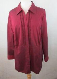 Details about LIZ & ME Womens Plus Size Button Down Dress Shirt Size 16w  Pleated Stretch F615
