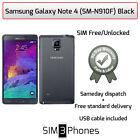 Samsung Galaxy Note 4 32GB (SM-N910F) Black Unlocked - Good Condition/Grade B