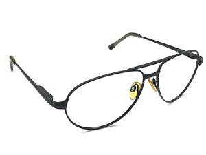 95a0405181 Serengeti 5497 Men s Black Aviator Sunglasses Frames Vintage 59-16 ...