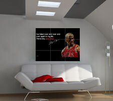 Michael Jordan large giant games poster print photo mural wall art ipx43