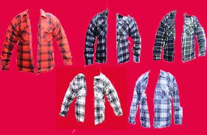 Full Fur Fleece Padded Quilted Shirt//Jacket zip up XL