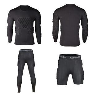Men-Sport-Basketball-Soccer-Football-Goalkeeper-Foam-Pad-Jersey-Top-Bottom-Pants