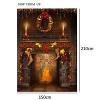 5x7ft Christmas Vinyl Studio Backdrop Photography Photo Props Background Sd99