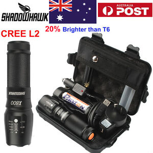 8000lm Genuine Shadowhawk X800 Tactical Flashlight LED L2 Military Torch G700