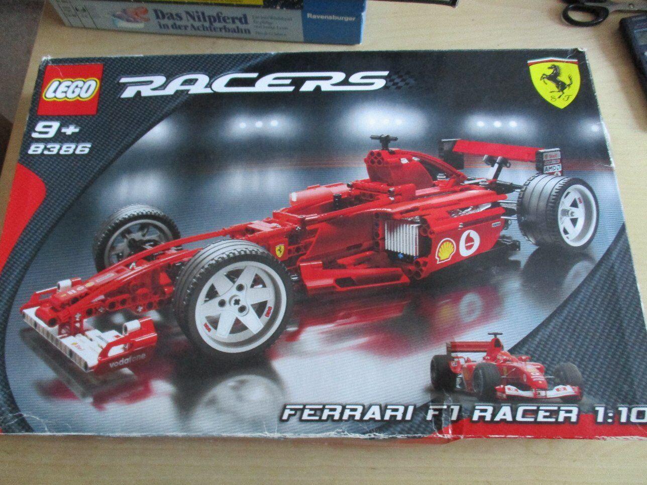 LEGO 8386 Racers Ferrari F1 Racer 1/10 + BA + OVP