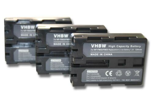 3x Batería 1200mAh Para Sony NP-QM91//NP-QM91D//NP-FM55H