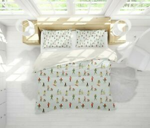 3D Colorful Ski People Sports Quilt Cover Sets Pillowcases Duvet Comforter Cover