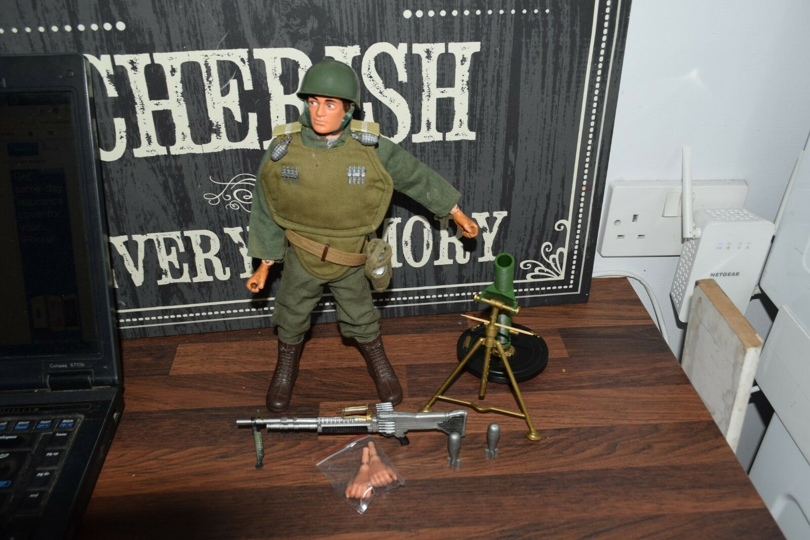 Vintage Action Man Palitoy heavy weapons excellent vam eagle eyes gripping