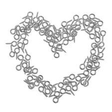 100 pcs 15mm Silver Plated Screw Eye Pin Peg Tail Jewelry Making Findings Craft