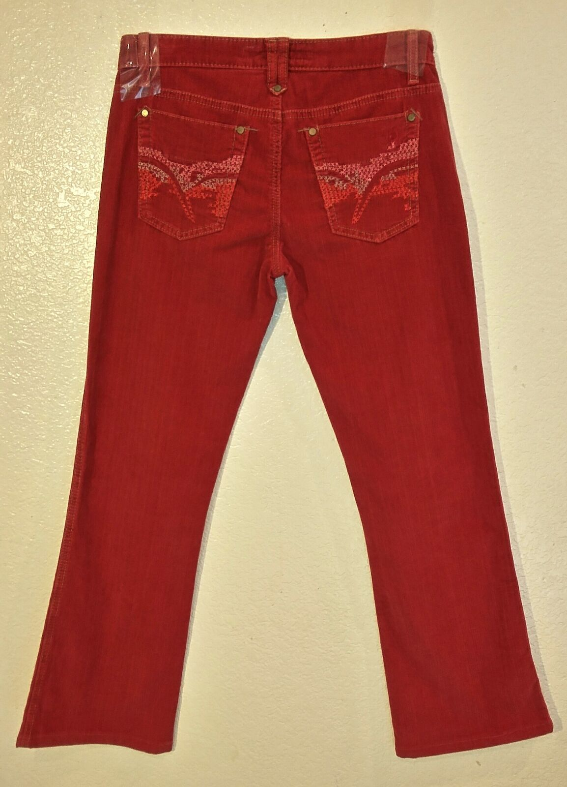 NEW Joe's Jeans Bootcut Corduroy Pants Womens Size 26 - Red C3560