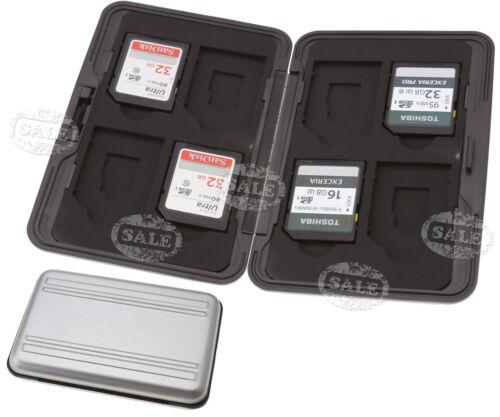 8 en 1 Tarjeta de memoria Micro Sd De Plata Aluminio Estuche Soporte de almacenamiento de información