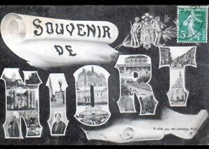 """NIORT (79) SOUVENIR ... MONUMENTS & NIORTAISE en costume en 1911 - France - État : Occasion : Objet ayant été utilisé. Consulter la description du vendeur pour avoir plus de détails sur les éventuelles imperfections. Commentaires du vendeur : """"CORRECT"""" - France"""