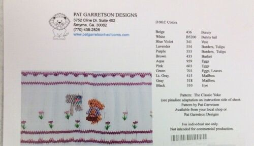 PAT GARRETSON SMOCKING PLATE #176 EASTER SURPRISE