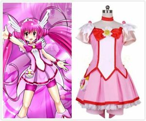 Pretty Cure Smile Star Fortunate cure happy Purple Red Party Halloween Hair Wig