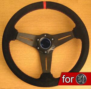 Volant-Rallye-en-Suede-Daim-pour-Peugeot-106-206-306-205-309-406-XS-XSI-GTI