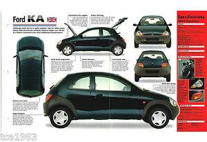Image Is Loading   Ford Ka Spec Sheet Brochure Pamphlet