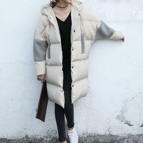 Womens Hooded Loose Cotton Blend Padded Padded Padded Coat Korean Overcoats Parka Fashion D620 840290