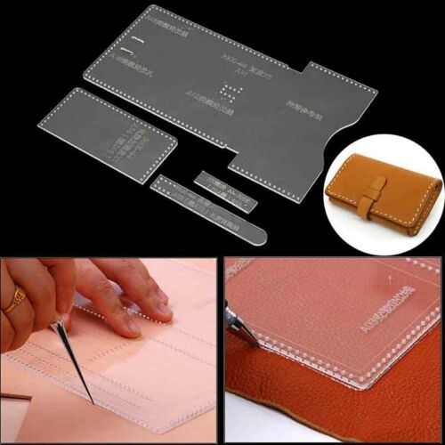 Acrylic Clear Template Pattern Tool For Wallet Messager Bag Leather Craft DIY