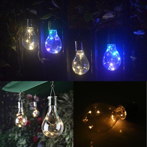 Waterproof LED Solar Light Bulb Nightlight Camping Hanging Garden Rotatable Lamp