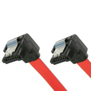 SATA-Cable-Serial-ATA-Data-Latching-Dual-Angled-Pack-of-5-x-45cm-Red-Cable