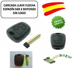 LLAVE-CARCASA-REPUESTO-2-BOTONES-CITROEN-C2-C3-C4-BERLINGO-XSARA-JUMPY-NO-LOGO