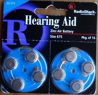 Radio Shack Hearing Aid Zinc-air Battery - Size 675 - Package Of 16 - Brand